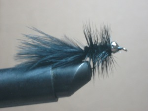 Black bead chain Wooly Bugger- a favorite fly!