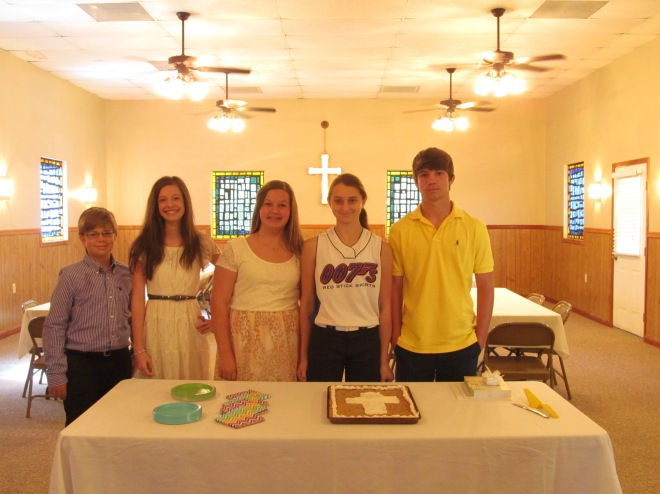 Pine Ridge UMC Confirmation Class of 2014