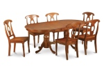 Oval dining room table similar to the one that we ate around every night