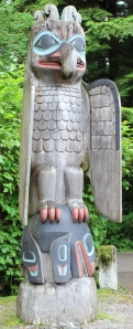 Thunderbird totem at Totem Bight State Park in Ketchikan