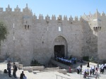 The Damascus Gate into the Old City of Jerusalem.