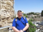 Me with the Western Wall and the Dome of the Rock in the background.