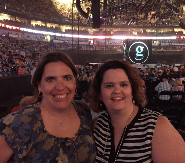 Jana with friend Lisa before the Garth Brooks Concert  July 11, 2015