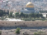 View of the Mt. Moriah and the Temple Mount from Mt.  Zion.