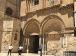 Outside of the Church of the Holy Sepulcher in Jerusalem.