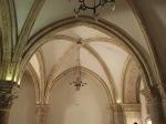 Inside of the Upper Room in Jerusalem.  Loved the vaulted ceilings!