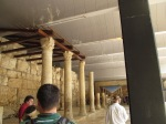 Columns still standing along the Cardo in Jerusalem.