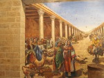 Mural depicting what the Cardo probably looked like.