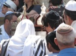 Reading from the Torah at the Western Wall.